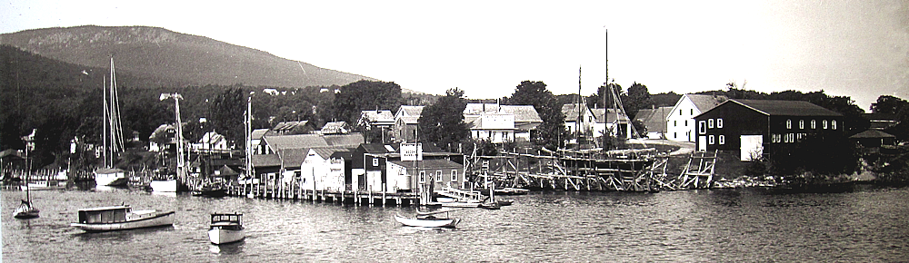 Camden Maine harbor before me.