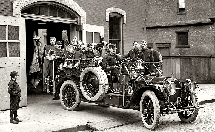 Packard chenical truck with crew.