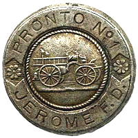 Badge for Jerome F.D. engine Pronto