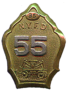 NYFD fire badge for hand Engine Co. 55