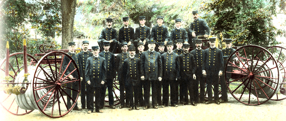 1908 photo of Lakeville Hose Co.
