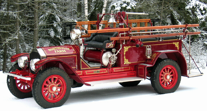 1925 American LaFrance fire engine restoration.