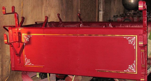 Hose body of 1922 Brockway fire engine restoration