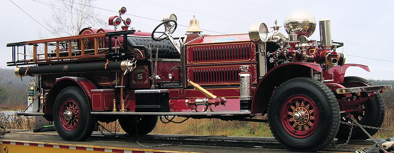 1924 Ahrens-Fox restored fire engine, about to be delivered.
