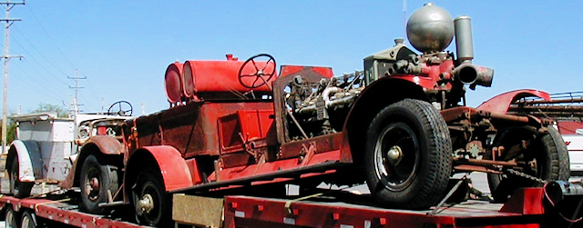 two engines before restoration