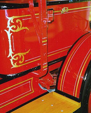 Garford fire engine stripes and scrolls.