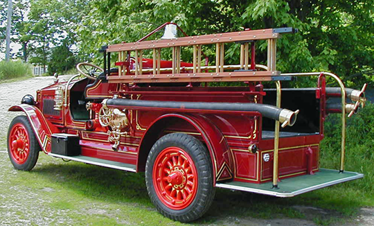 1923 Maxim fire engine at Firefly Restoration.