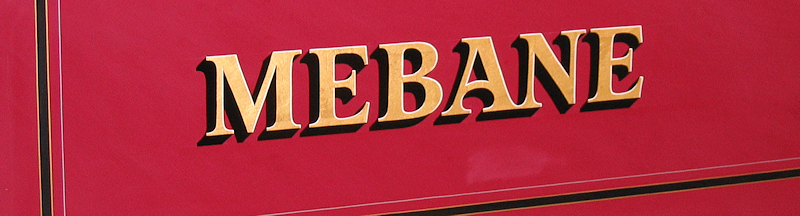 Mebane name on hose body of 1932 Fore fire engine