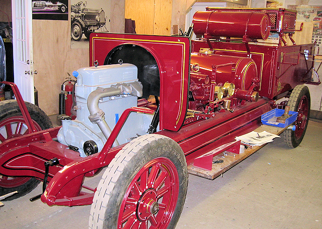 1922 Brockway restoration at Firefly Restoration being reassembled.