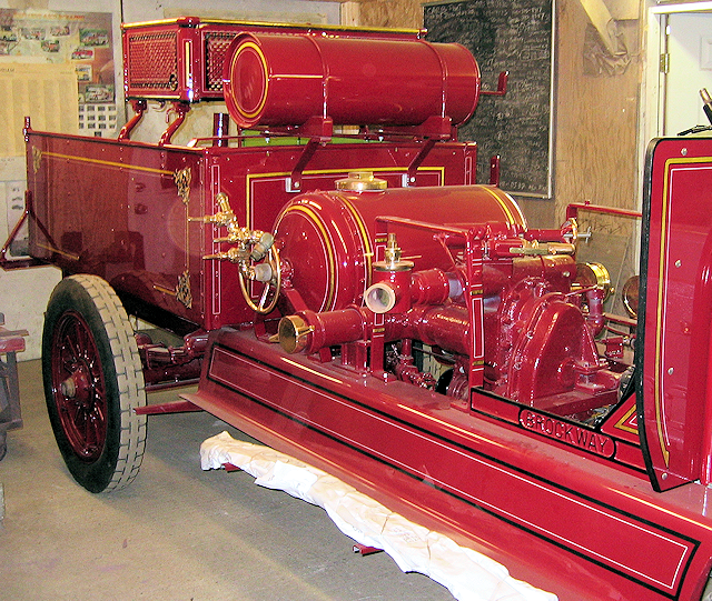 1922 Brockway decoration on pump, chemical tank, gas tank, hose basket and hose body.