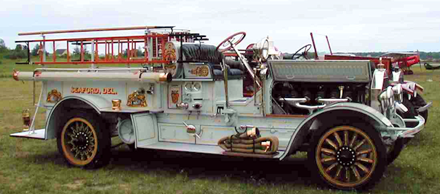 1921 Seagrave fire engine restored by Firefly Restorations.