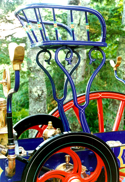 Blue frame and seat on 1875 Clapp & Jones steam fire engine