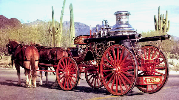 1910 Nott steam fire engine restored by the Tucson Fire Dept.