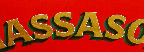 gold leaf lettering with split shade on massasoit hand engine in damariscotta maine