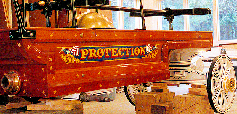 1857 Button & Blake hand fire engine in Fire Gold shop