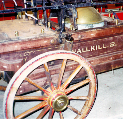 Before restoration photo of Button & Blake hand fire engine